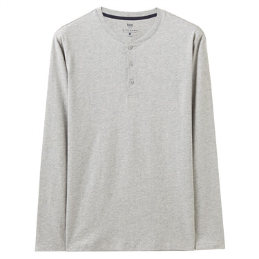 Henry collar long-sleeve tee for Men