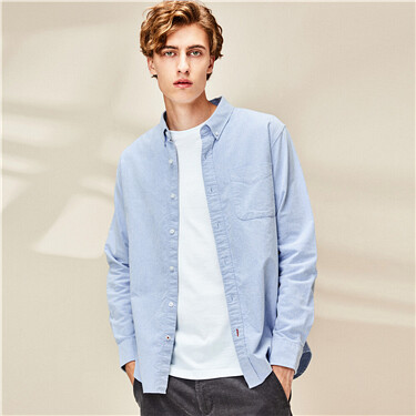 Sanded oxford cotton shirt