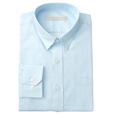 Single patch pocket slim shirt