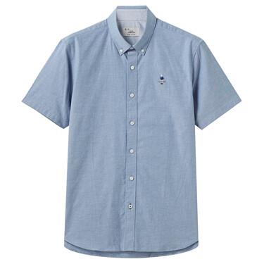 男裝Oxford短袖襯衫