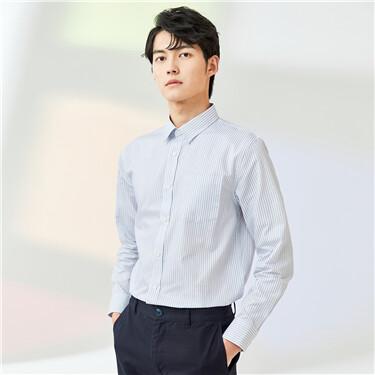 Patch pocket slim shirt