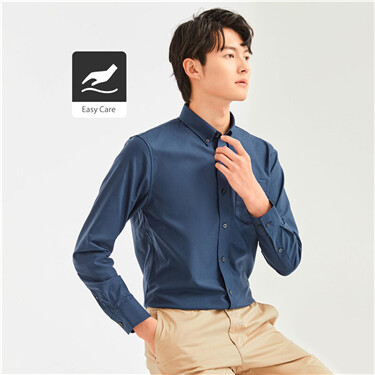 Non-ironing cotton oxford shirt