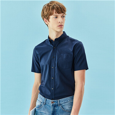 Non-ironing antibacterial oxford shirt