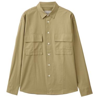 男裝工裝風長袖恤衫