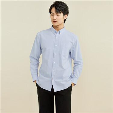 Sanded oxford long-sleeve shirt