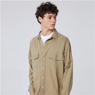 男裝雙袋裇衫