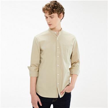 High-tech cool slim stand collar shirt