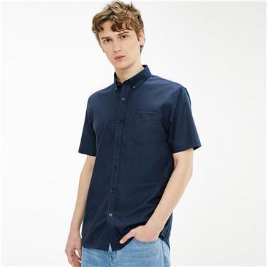 Non-ironing oxford short-sleeve shirt