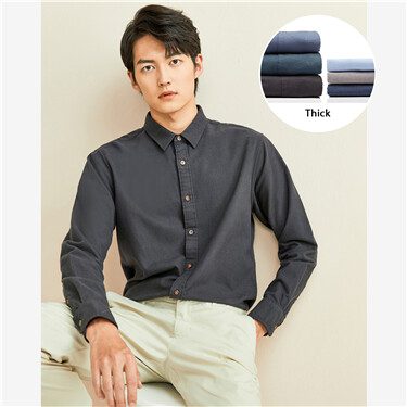 Thick flannel long-sleeve shirt