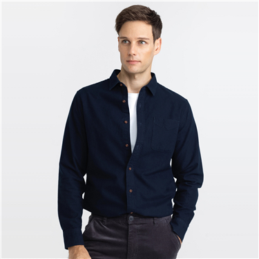 Slim patch pocket long-sleeve