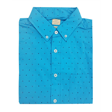 Printed long-sleeve cotton shirt