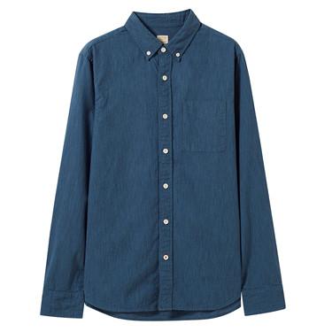 Cotton stripe pocket shirt