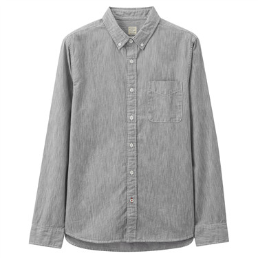 Cotton stripe pocket shirt