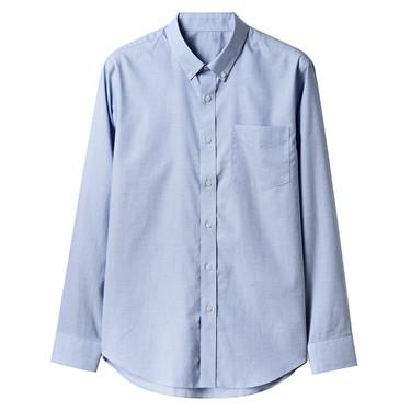 簡約純棉修身長袖襯衫