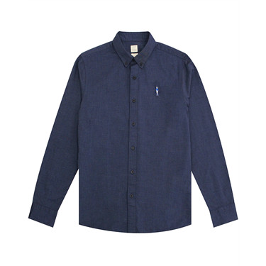 Oxford embroidery long-sleeve