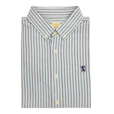 Long-sleeve pattern stripe shirt
