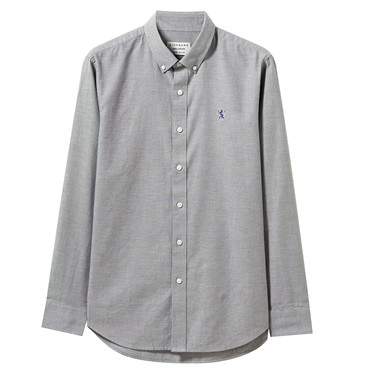 Oxford shirt with Small Lion Embroidery