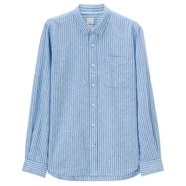 Linen roll sleeve shirt (Men)