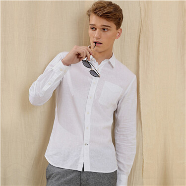 Linen cotton long sleeve shirt