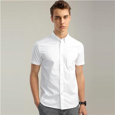 Oxford short sleeve slim shirt