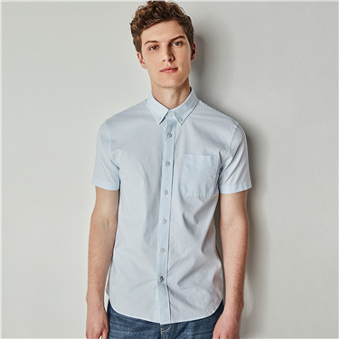 Oxford short sleeve slim shirt