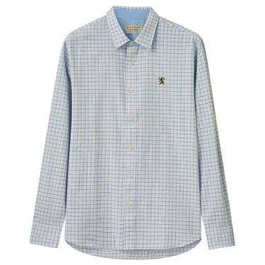Cotton Oxford Shirt with Embroidery