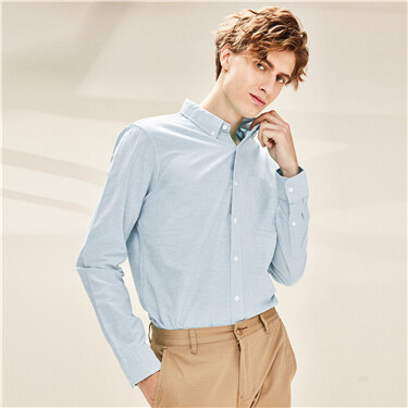 Oxford cotton slim shirt