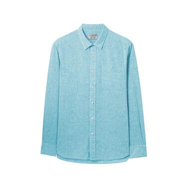 Linen-cotton long sleeves shirt