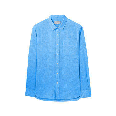 Linen-cotton long sleeves shirt