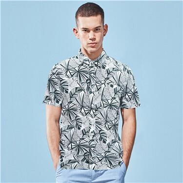 Linen Cotton Short Sleeve Shirt