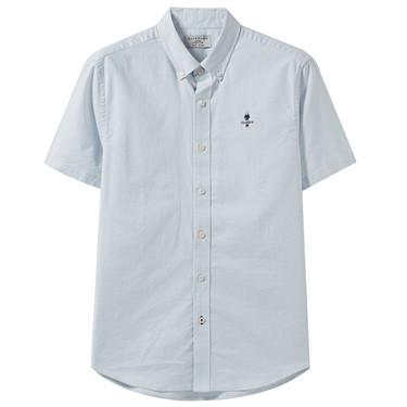 刺繡牛津紡短袖襯衫