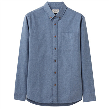 Stretchy oxford long-sleeve shirts