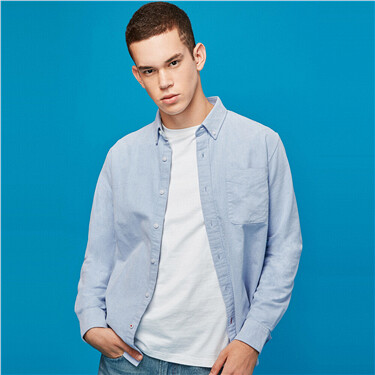 Brushed finishing oxford long-sleeve shirt