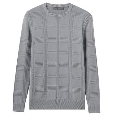 Men Textured Stitch Pullover