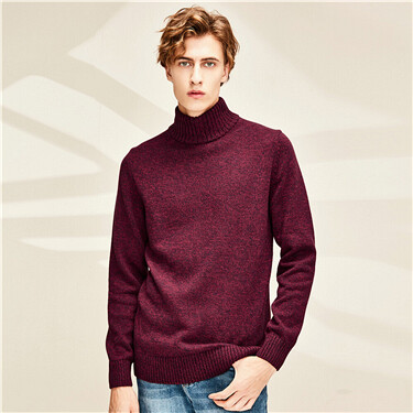 Thick mockneck sweater