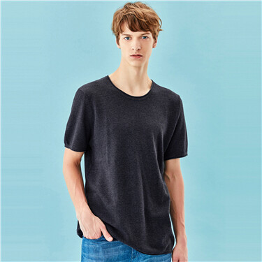 Short-sleeve blended tee