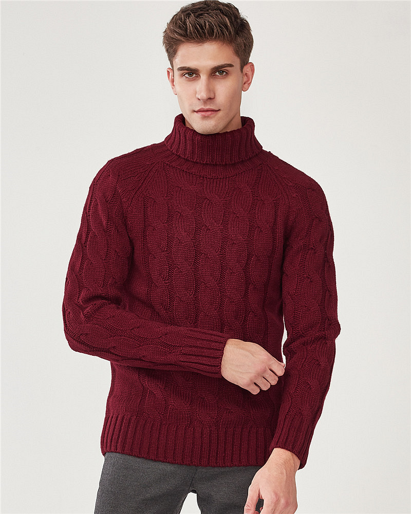 9b889d2229190 Thick turtleneck pullover sweater | GIORDANO Online Store