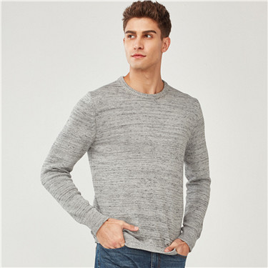 Thick crewneck pullover sweater