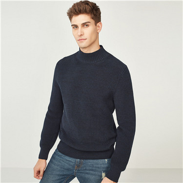 Thick cotton mockneck sweater