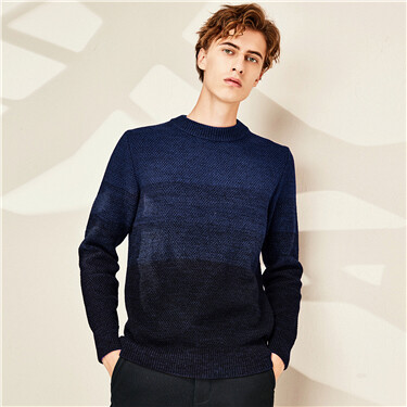 Thick crewneck plain sweater