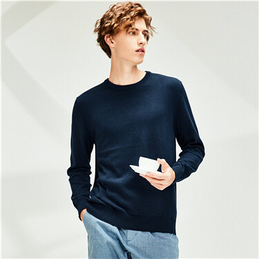 Crewneck plain sweater