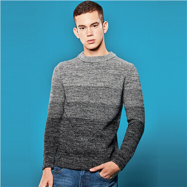 Gradient crewneck sweater