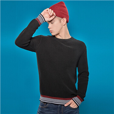 Contrast crewneck sweater