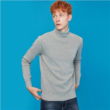 Fleece-lined turtleneck sweater