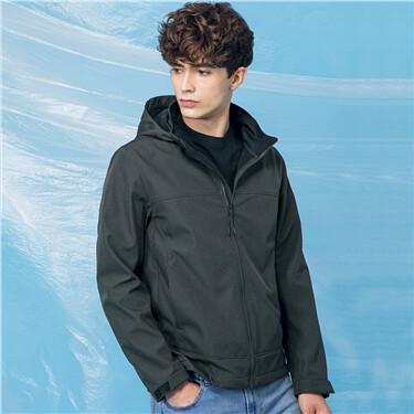 Polar fleece reversible detachable hood jacket