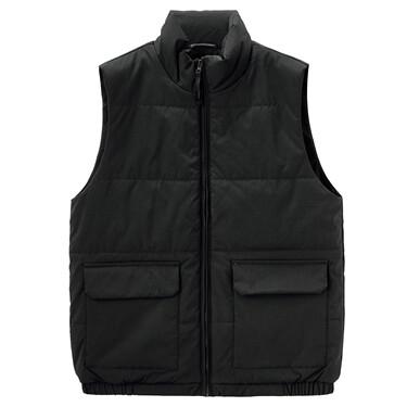 Men Polyester Slim fit Quilt Vest