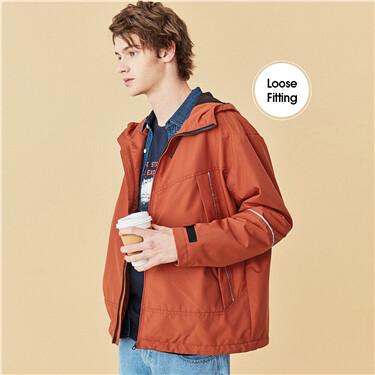 Lightweight cargo hooded jacket