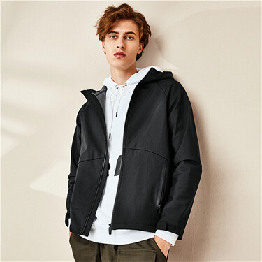 Bonded polar fleece raglan sleeves jacket
