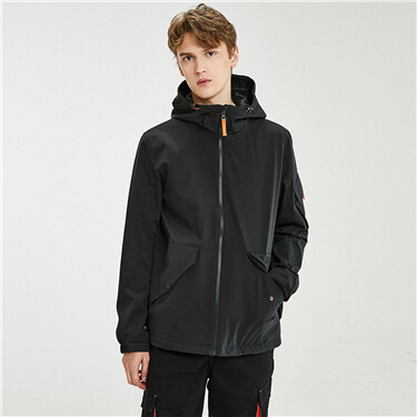 Teflon coating cargo hooded jacket