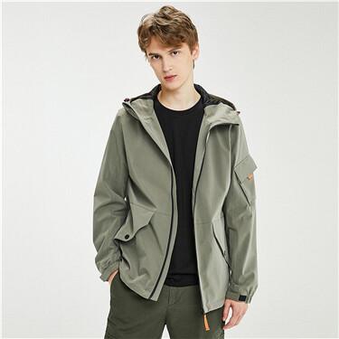 Teflon coating cargo hooded jacket